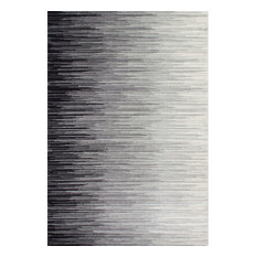 """Electricity Ombre Rug, Black, 2'8""""x8'"""