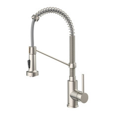 Bolden Commercial Style Pull-Down 1-Handle 1-Hole Kitchen Faucet, 2-Function, SS