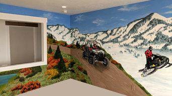 Bear Lake Landscape Mural