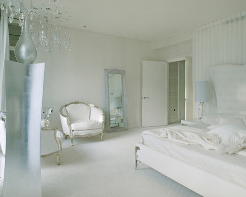 white and silver bedroom ideas & photos