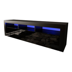 Vigo 180 Led Wall Mounted Floating Tv Stands Fits 80 Quot Tv