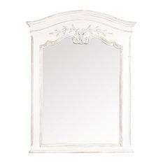 Romance Trumeau Mirror, Antique White, 77x100 cm