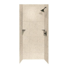 swan swan 36x36x72 solid surface shower wall surround bermuda sand shower stalls and