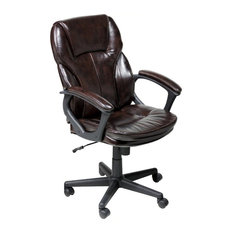 Serta by True Innovations - Serta Manager Office Chair in Brown Puresoft Faux Leather - Office  sc 1 st  Houzz & Reclining Office Chair | Houzz islam-shia.org