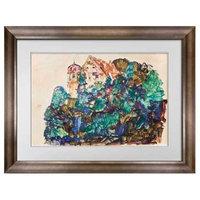 "Egon Schiele Lithograph Sign ""The Old Castle of Bregenz"" * Custom frame Active"