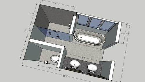 Which bathroom layout? Help, please.