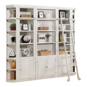 Parker House, Boca Library Wall Bookcase, Cottage White