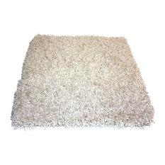 Square 11'x11' Kane Carpet Candy Shag, Coconut Cream