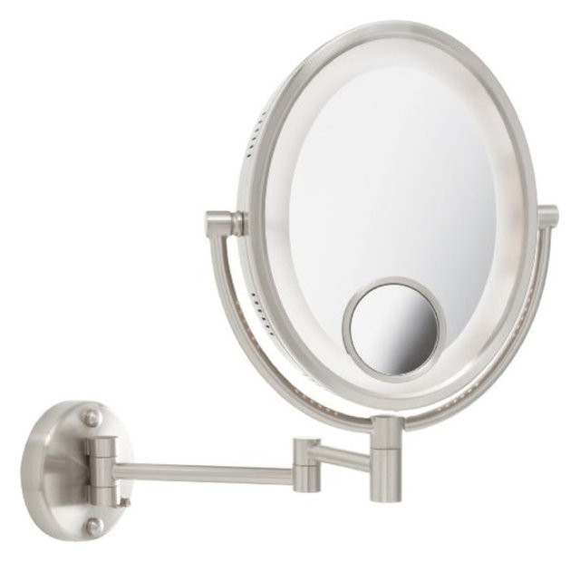 Jerdon Hl9515n 8 Inch Two Sided Swivel Oval Halo Lighted
