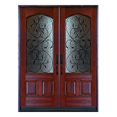 34 Inch Exterior Door With Window 1 Panel 1 2 Lite Mini Blind