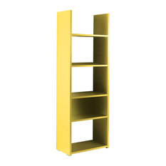 Boost 5-Shelf Bookcase, Yellow