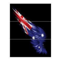 """Wing With Australian Flag"" Digital Canvas Print, 3 Panels, 28""x36"""