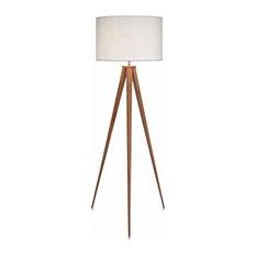 Romanza Tripod Floor Lamp, White