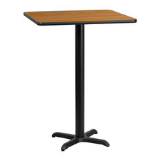 """Dyersburg 30"""" Square Natural Laminate Table Top With 42"""" X-Base"""