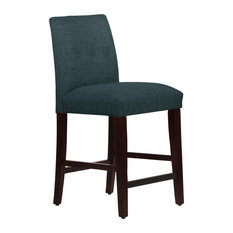 Kendra Tapered Counter Stool With Buttons, Zuma Navy