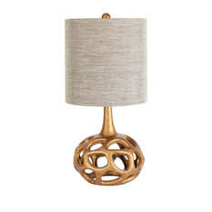 Silverwood - The Clove Table Lamp with Shade, Gold - Table Lamps