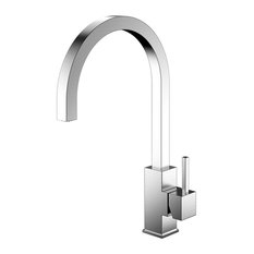 Spirit Kitchen Mixer Tap, Curved, Brushed Stainless Steel
