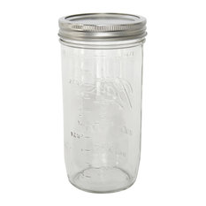 Dominica Wide Mouth Mason Jars, Set of 9