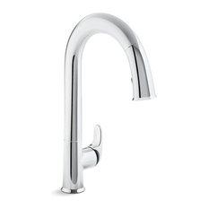 """Kohler Sensate Touchless Kitchen Faucet, 15-1/2"""" Pull-Down Spout"""