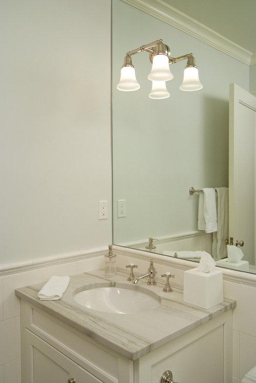 Bathroom Vanity Flush Against Wall Urban Home Interior
