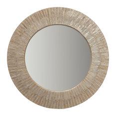 KOUBOO - Round Capiz Seashell Sunray Wall Mirror - Wall Mirrors