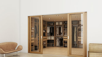 Sliding door walk in wardrobe