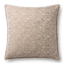 Loloi P0890 Neutral Decorative Accent Pillow, Beige, No Fill