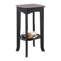 Pilaster Designs   Plant Stand Accent Side End Table, Espresso Finish   Side  Tables And