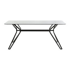 Vig Furniture Inc.   Modrest Synergy Modern Smoked Glass Dining Table   Dining  Tables