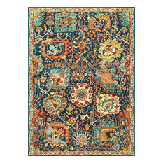 nuLOOM - Dense Peony Tree Of Life Area Rugs, Blue, 9'x12' - Area Rugs