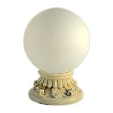 "Solar Powered 10"" Glass Globe LED Post Light, Warm White"