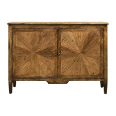 Transitional Pecan Cabinet