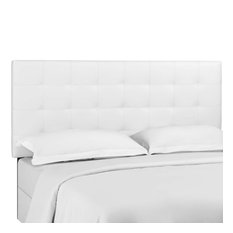 White Paisley Tufted Twin Upholstered Faux Leather Headboard