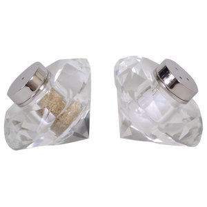 Crystal Salt and Pepper Shakers, Set of 2