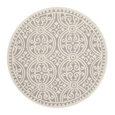 Studio Seven Cambridge Rug, Silver/Ivory, 8'x8' Round
