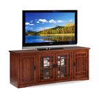 """Leick Furniture Mission 60"""" TV Stand in Medium Oak"""
