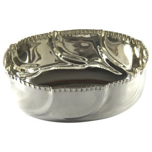 Royal Family Centrepiece Bowl With Decorative Rim, Light Silver, Large