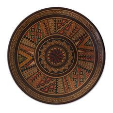Novica Hitching Post of the Sun Decorative Cuzco Plate