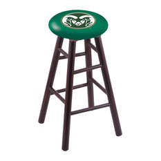 Maple Counter Stool Dark Cherry Finish With Colorado State Seat 24-inch