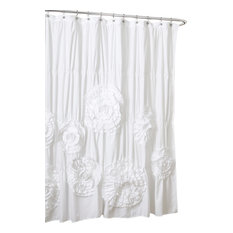Charming Lush Decor   Serena Shower Curtain, White   Shower Curtains