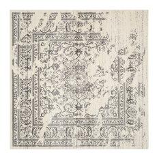 Exceptional Safavieh   Safavieh Manar Woven Rug, Ivory And Silver, 8u0027x8u0027 Square