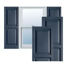 Builders Choice Vinyl Raised Panel Window Shutters, w/Instl. (Pair), Indigo Blue