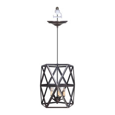 Worth Home Products - Instant Pendant Series 5-Light Brushed Bronze Recessed Light Conversion Kit  sc 1 st  Houzz & Cage Pendant Lights | Houzz azcodes.com