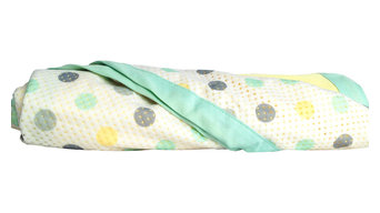 Aqua Dot Nursery Blanket