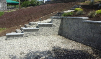 Stepped Retaining Wall and Granite Stairs