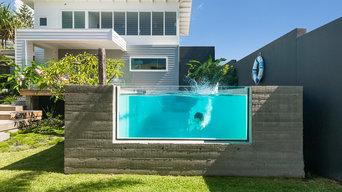 Sunshine Beach Free Top Edge Acrylic Pool Window