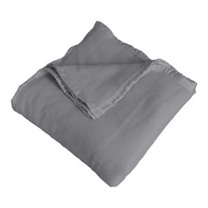Normandy 100% Merino Wool 400Gsm, Gray, Queen