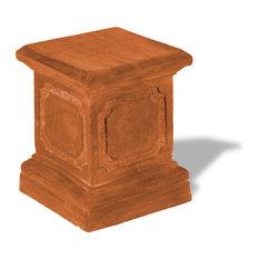 Paneled Pedestal, Terra Cotta