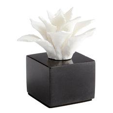 CYAN DESIGN CALENDINE Sculpture Statue Small White Black Ceramic