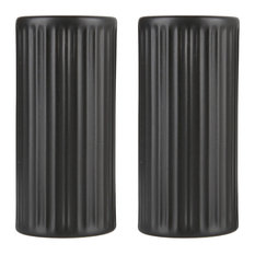 Groovy Salt and Pepper Shakers, Black, 4-Piece Set